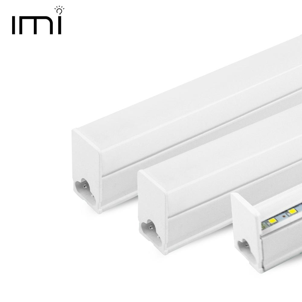 Tubo LED T5 luz fluorescente integrada T8 bombilla lámpara de pared 30CM 60CM 1ft 2ft 6W 10W ampolla blanca fría 110V 220V 240