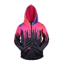 3D Men Hoodies Zip Up Splatter Color Print Hip Hop Sweatshirt Streetwear Casual Jacket Women Outwear Hipster Hood