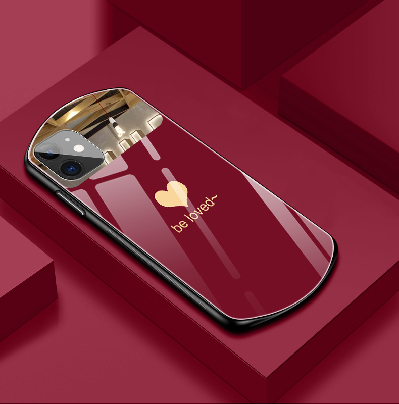 Luxury Cute Oval Heart-shaped Phone Case For iPhone
