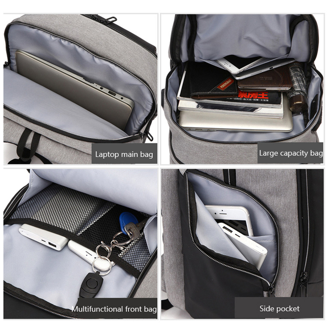MAGIC UNION Travel Laptop Backpack Anti Theft Laptop Backpack USB Charging Port Water Resistant College School Bag for Men Women 4