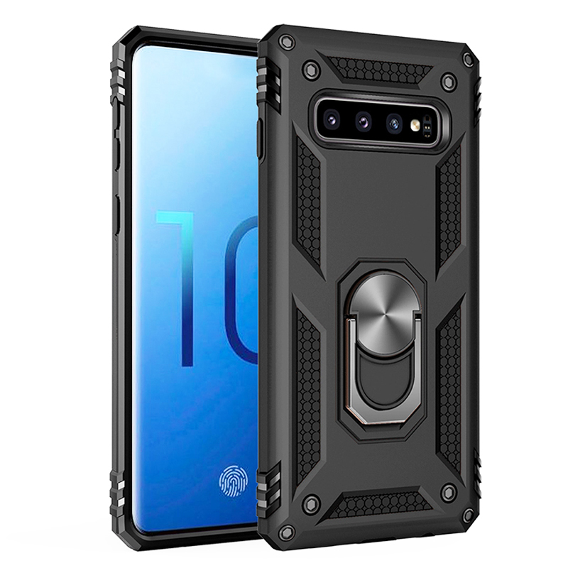 Shockproof Armor <font><b>Case</b></font> For Samsung Galaxy S10 5G S9 S8 Plus S20 <font><b>Note</b></font> <font><b>9</b></font> 8 S10Plus A51 A71 A6 A8 2018 Phone <font><b>With</b></font> <font><b>Ring</b></font> Holder Covers image