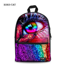 Koko Cat  Rainbow Eyes School Bags for Girls Boys Animal Schoolbag for Teenagers Middle School Book Bag Pack Mochila Escolar недорого