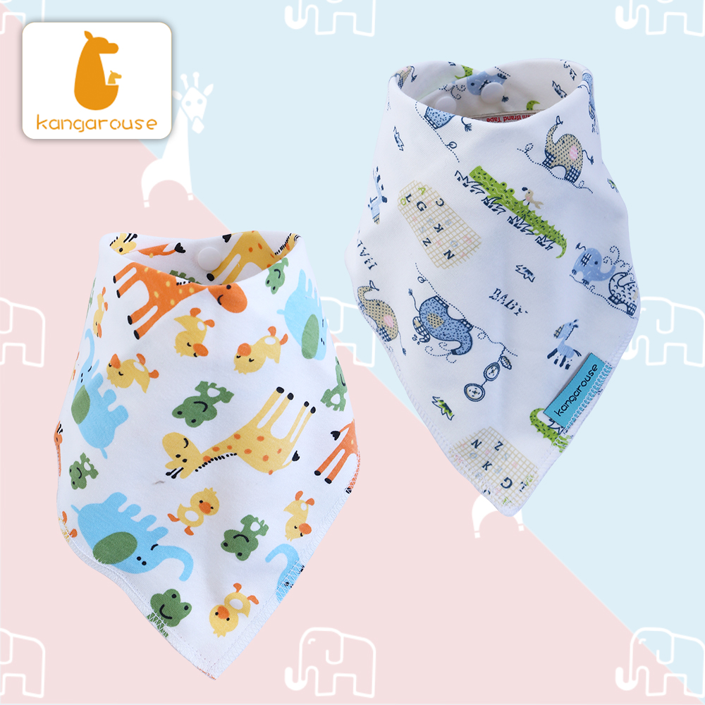 Image 3 - Kangarouse Cotton Bandana Bibs Baby Babador Infant Burp Cloths  Saliva Towel Baby Eating AccessoryBibs & Burp Cloths   -