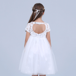 Image 4 - Blumen Kurzarm Weiß Baby Mädchen Kleid Infant Kleinkind Sommer Ballkleid Spitze Taufe Party Kleider Kinder Mädchen Kleidung