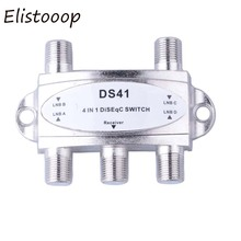 New TV DiSEqC Switch 4x1 DiSEqC Switch Satellite Antenna Flat LNB Switch For TV Receiver High Quality