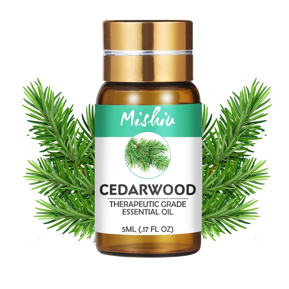 Mishiu Pure Essential Oil Aromatherapy Cedarwood Cinnamon Myrrh Patchouli Frankincense Vetiver Clary Sage Diffusers Oil 5ML