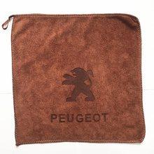 30x30 para Peugeot 206, 207, 307, 3008, 2008, 308, 408, 508, 301, 208, toalla de microfibra para lavado de coches, paño de secado de limpieza de coche