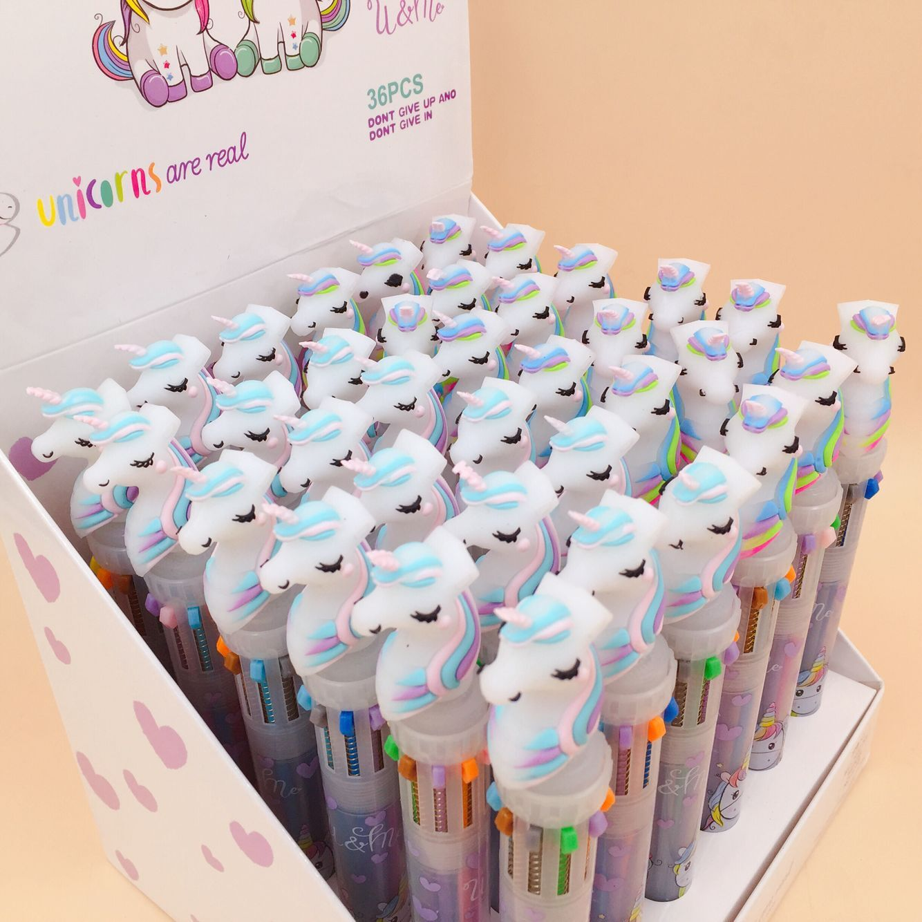 40 pcs lote rainbow unicorn 10 cores 04