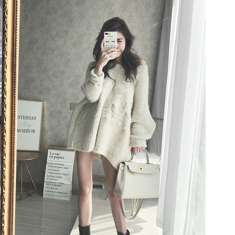 New Winter Sweater Women Pullover Girls Tops Vintage Long Sleeve Autumn Elegant Female Knitted Outerwear Warm Oversize Sweater