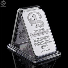 Barat Laut Teritorial Mint Dayton NV 1 Per Troy Ounce .999 Fine Sliver Plated Bar Replika Batangan Bar Sliver Koleksi Koin(China)