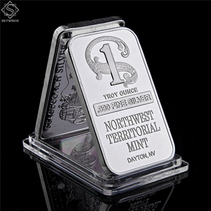 Northwest Territorial Mint Dayton NV 1 Troy Ounce .999 Fine Sliver Plated Bar Replica Bullion Bar Sliver Coin Collection(China)