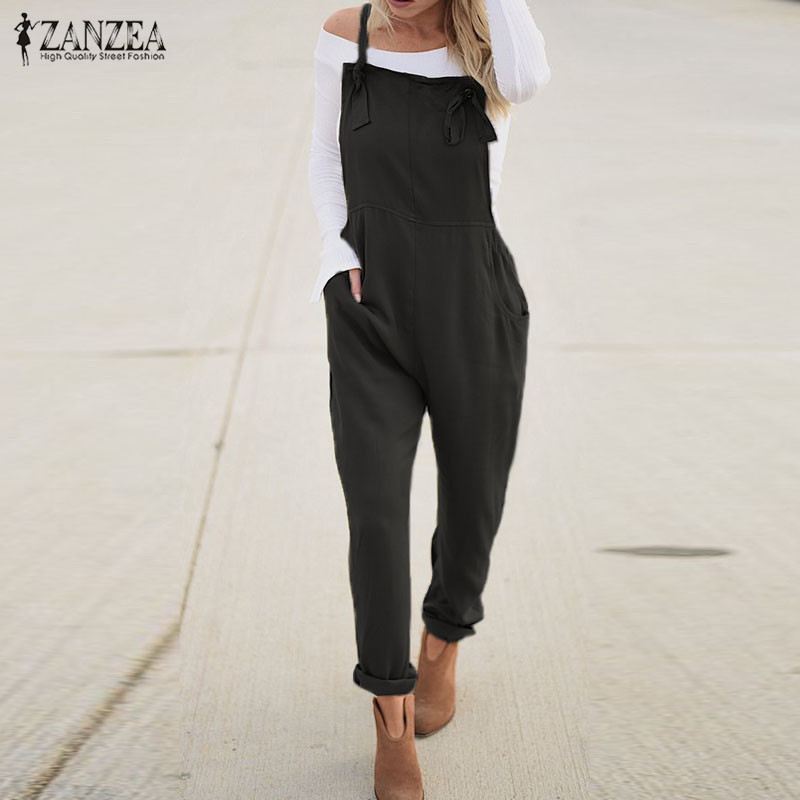 Plus Size ZANZEA 2020 Fashion Casual Harem Pants Women's Summer Jumpsuits Casual Overalls Female Strap Rompers Playsuits Rompers