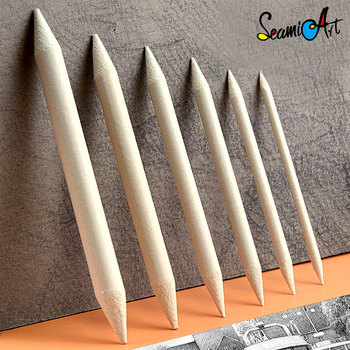 6pcs/set Blending Smudge Stump Stick Tortillon Sketch Art White Drawing Charcoal Sketcking Tool Rice Paper Pen Supplies 1