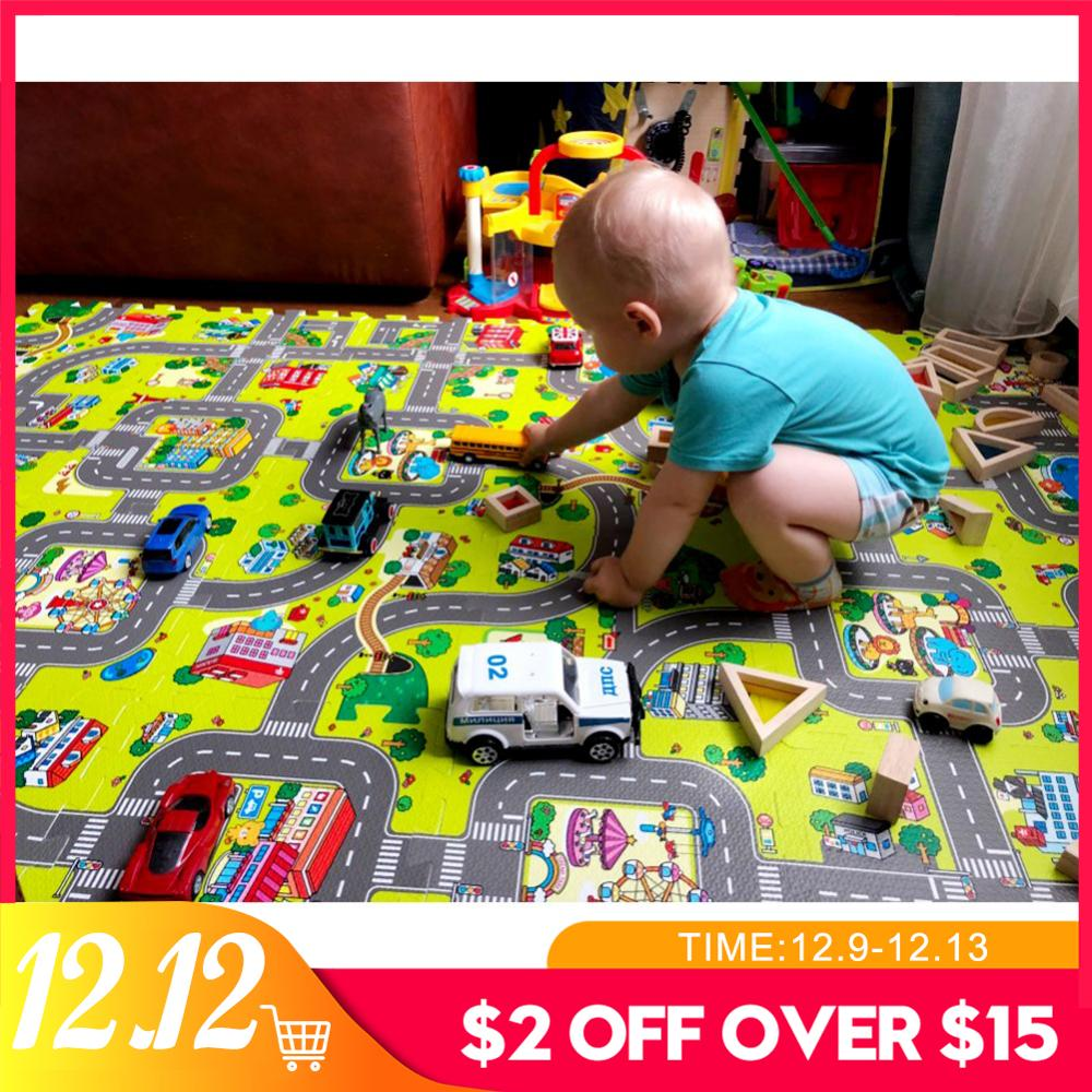 Foam Play Puzzle Mat 9/18pcs Play Mat Baby EVA For Kids Interlocking Exercise Tiles Floor Carpet Rug