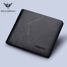 цена на WILLIAMPOLO men wallets designer wallets famous brand wallet 2020 small leather men Bifold  purse Original new Card Case Cowhide