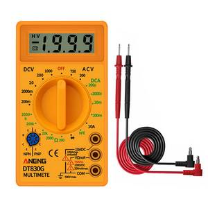 Digital Multimeters Ohm-Tester DT830G Auto Handheld AC/DC 750/1000V 1pcs LCD Ranging
