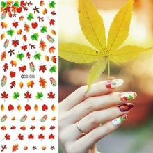 Get more info on the 2019 New Styles Nail Designs 3D DIY Sticker Nails Charm Nail Art Sticker Gold Yellow Maple Leaves Thin Adhesive Decor Manicure