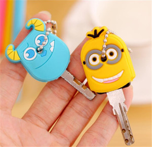 Cartoon Silicone Protective key Case Cover For key Control Dust Cover Holder Organizer Home Accessories Supplies-1PC