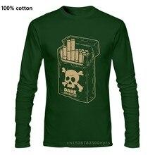 Sigarette scure top Tee T Shirt uomo cranio gotico veleno fumo Rock Emo Punk festivo T-Shirt taglie forti