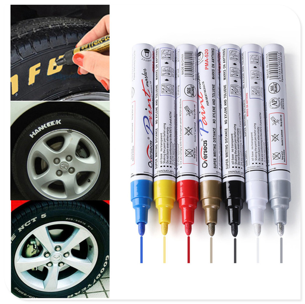 Car Pen Tyre Tires Paint Markers Marker for Mercedes Benz E53 C63 C43 C-Class AMG GL550 F800 <font><b>A200</b></font> ML500 ML350 GL450 image