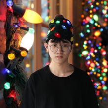 LED Christmas Hats  Knitted Beanie Hat Snowflake Tree Light Up Cap For Kid Adult New Year Gifts Party