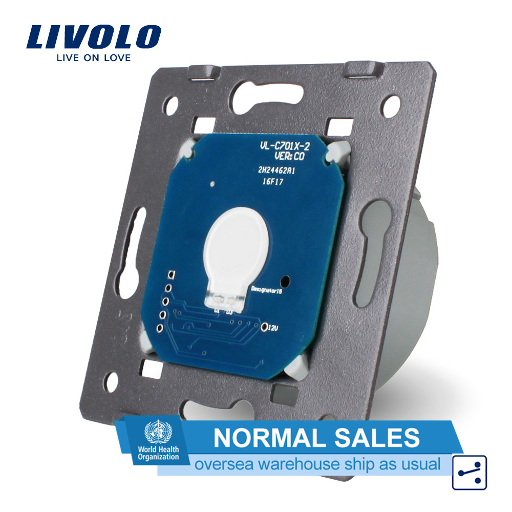 Livolo EU Standard,1 Gang 2 Way Control, AC 220~250V, Wall Light Touch Screen Switch Without Glass Panel,VL-C701S