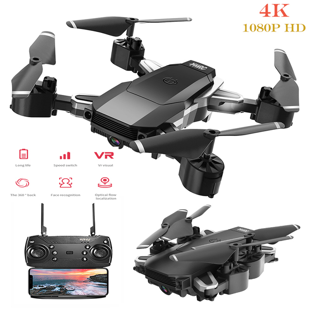 Mini Drone 4K 1080P HD Camera Folded Quadcopter Aerial Photography RC Airplane One-Key Return FPV Drones Kid s Outdoor Toys