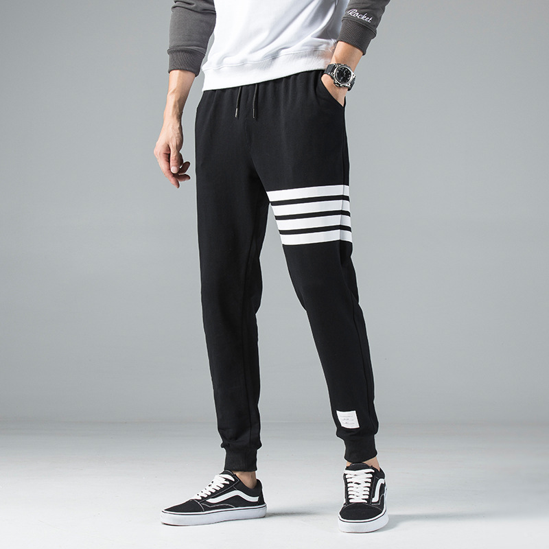 Autumn TB Pants Men's Korean-style Trend Casual Pants Spring And Autumn Casual Capri Athletic Pants Men Popular Brand Skinny Swe