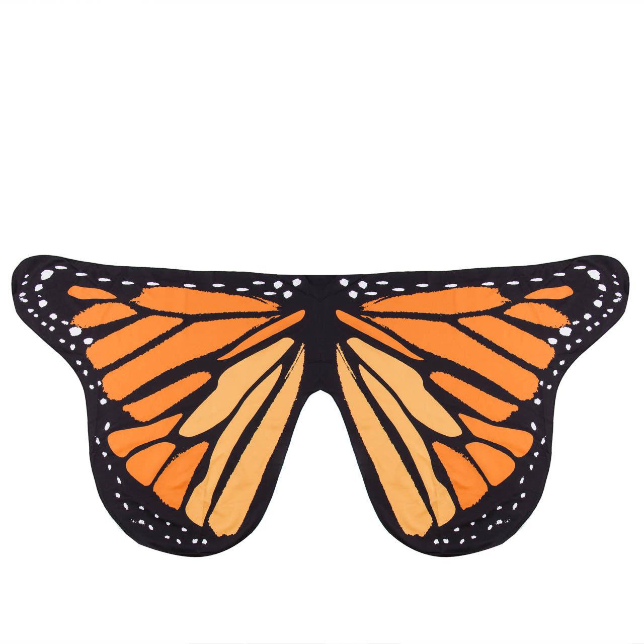 Pudcoco Детский шарф для девочек красивое крыло шаль бабочки шарфы летнее пляжное пончо костюм аксессуар пончо и накидки