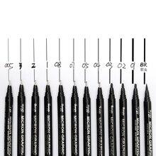 Guangna 8050 Malerei Mikron Grafik Nadel Stift Set Haken Linie Skizze Hand-gezogen Cartoon Architekturinnenraum Design Nadel Stift