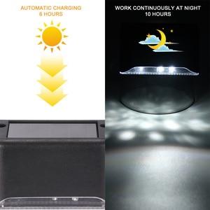Image 5 - 3PCS/10PCS LED Solar Light Outdoor Solar Lamp Railing Light Wall Light Sconce Lamp For Stair Courtyard Garage , Yards, Fences
