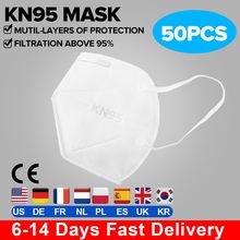50 pcs KN95 CE Certification Face Mask N95 FFP3 Mouth Mask Anti Smog Strong Protective than FFP2 KF94