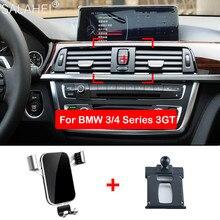 Uchwyt na telefon komórkowy do BMW 3 4 3GT Series odpowietrznik uchwyt mocujący uchwyt GPS na telefon klip stojak w akcesoria do wnętrza samochodu