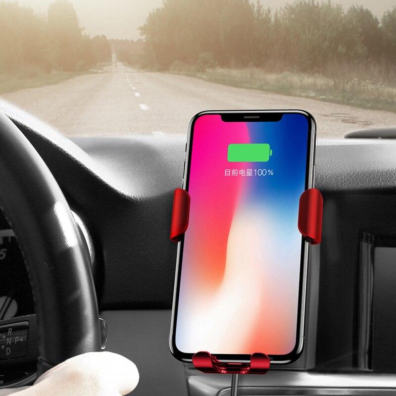 XiaFor iPhone X 8 Android support de gravité voiture Charge rapide chargeur sans fil Protection Multiple chargeur de batterie cargador de pilas