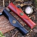 Новый литературный ретро кожаный защитный рукав  кожаная сумка-карандаш  контейнер для хранения канцелярских принадлежностей  чехол-каран...