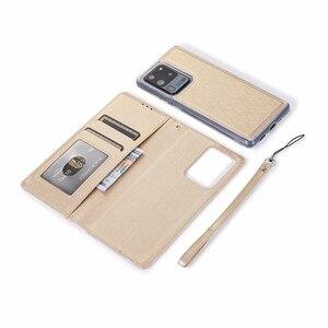 Image 5 - 隠し回転カードホルダーサムスン注 10 プラス 10 + 8 9 S8 S9 S10 プラス S7 エッジフリップレザー携帯ケースカバー