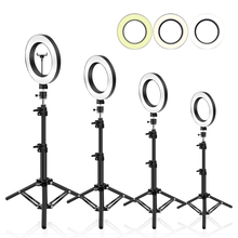 6/10 inch Ring Led Light Tripod 50 210Cm Ring Selfie Lamp With Stand Phone Holder Photography Lighting For Youtube Makeup Light