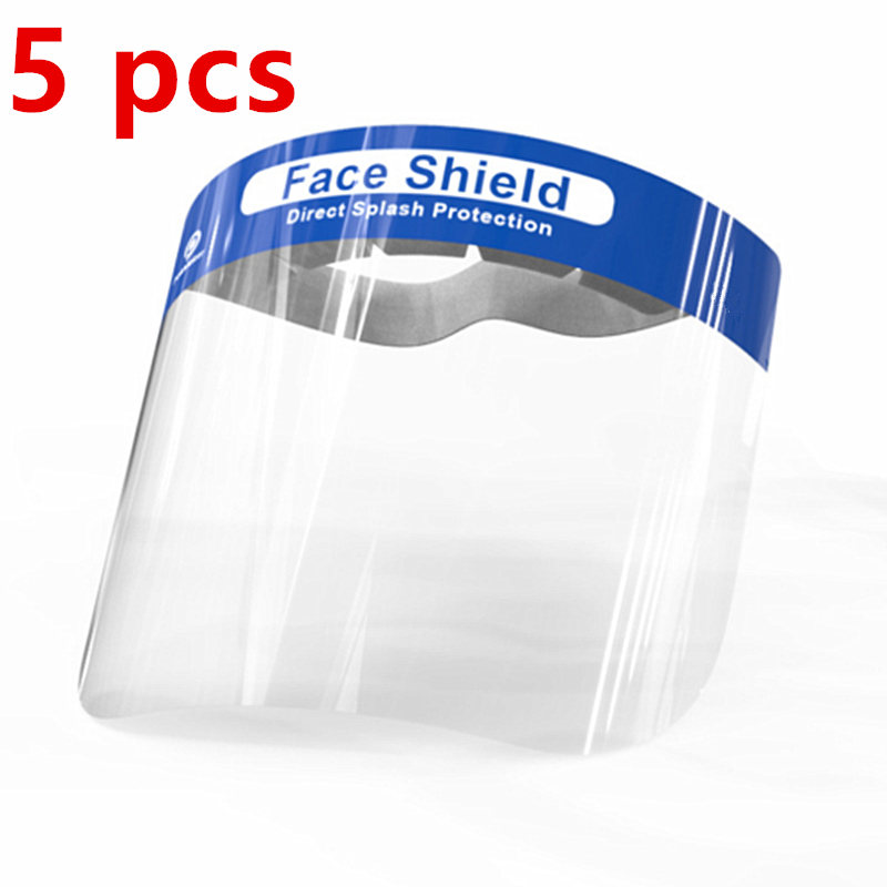 5PCS / 1 Pcs Lot Transparent Plastic Safety Faces Shields Screen Spare Visors For Head Mask Eye Faces Protection