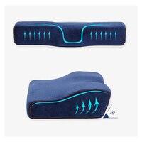 Speicher Schaum Kissen Bettwäsche Neck Schutz Healthcare Zervikale Ansatz Langsam Rebound Memory Foam Magnetische Therapie Kissen Bett-in Dekorative Kissen aus Heim und Garten bei