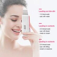 חדש קולי יון עור Scrubber נטענת Microdermabrasion עמוק ניקוי גבוהה תדר רטט פנים קילוף לעיסוי ספא