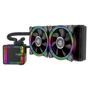 Интегрированный радиатор водяного охлаждения ALSEYE H240, чехол для компьютера, безопасный, эффективный, безвредный и низкий уровень шума