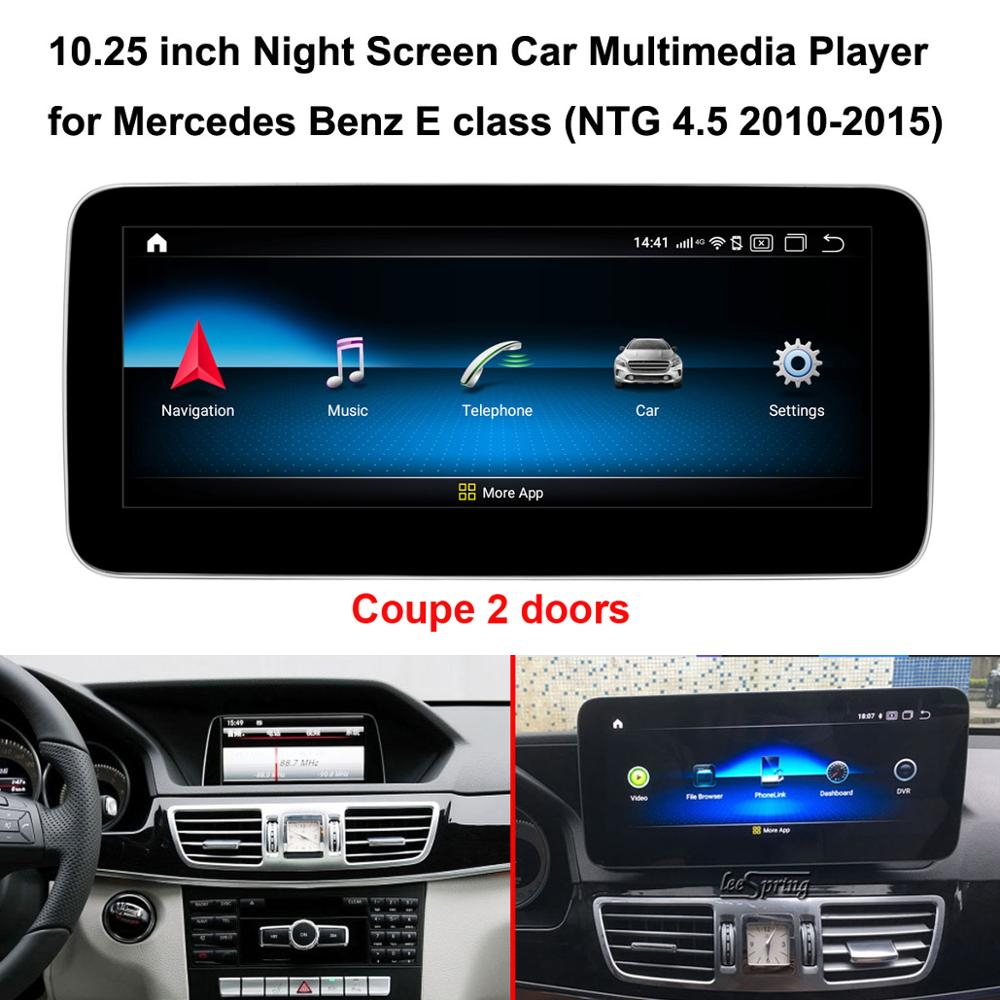 <font><b>10.25</b></font> inch Touch Screen <font><b>Android</b></font> 9.0 Car Multimedia Player for <font><b>Mercedes</b></font> Benz <font><b>E</b></font> <font><b>Class</b></font> Coupe W212 NTG4.5 5.0 (2 doors) image