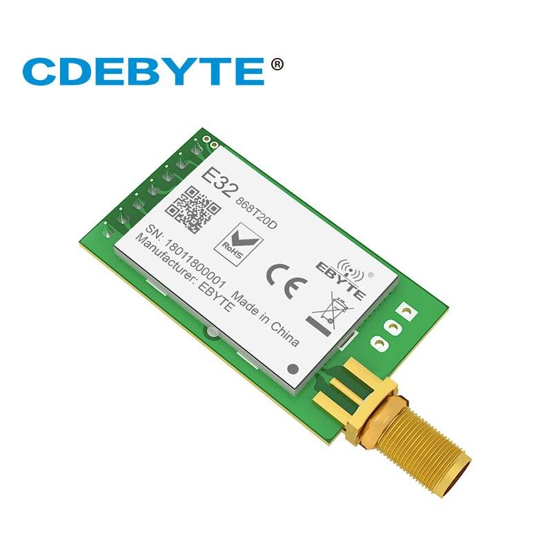 Ebyte E32-868T20D lora sx1276 868 mhz iot 20dbm 100 mw módulo transceptor sem fio uart transmissor e receptor