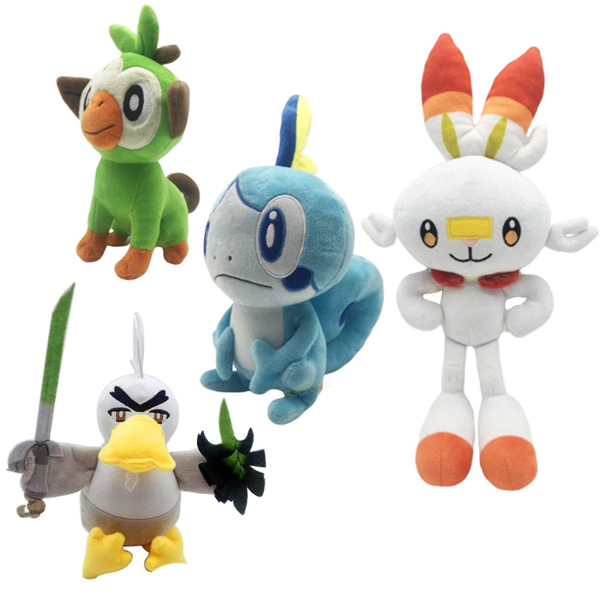 New Pokemon Plush Game Sword Shield Grookey Plush Cute Soft Monkey Doll Cartoon Toys For Children Christmas Gift
