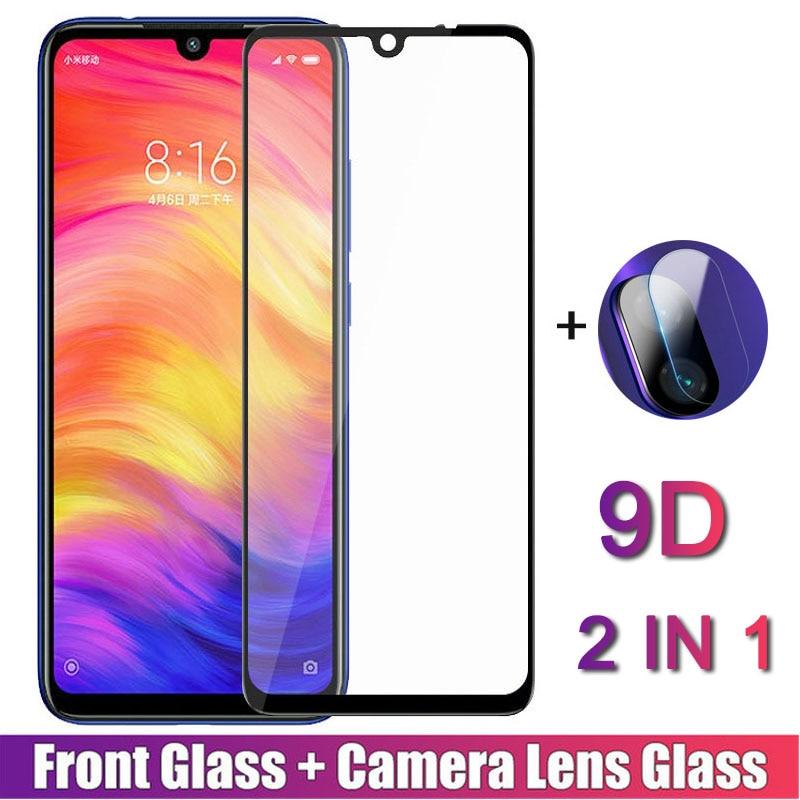 2 in 1 9D Tempered Glass for readmi Redmi Note 7 Screen Protector Film For Xiaomi Redmi Note 7 Glass note7 Back Camera Lens Film