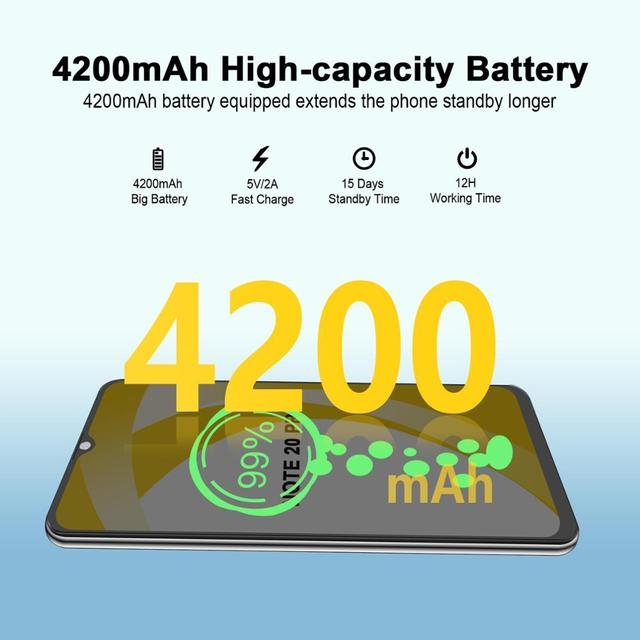 CUBOT Note 20 Pro Cell Phone 8+128GB Rear Quad Camera 12MP NFC Smartphone 4g 6.5″ HD Display Android 10 Telephone 4200mAh 5