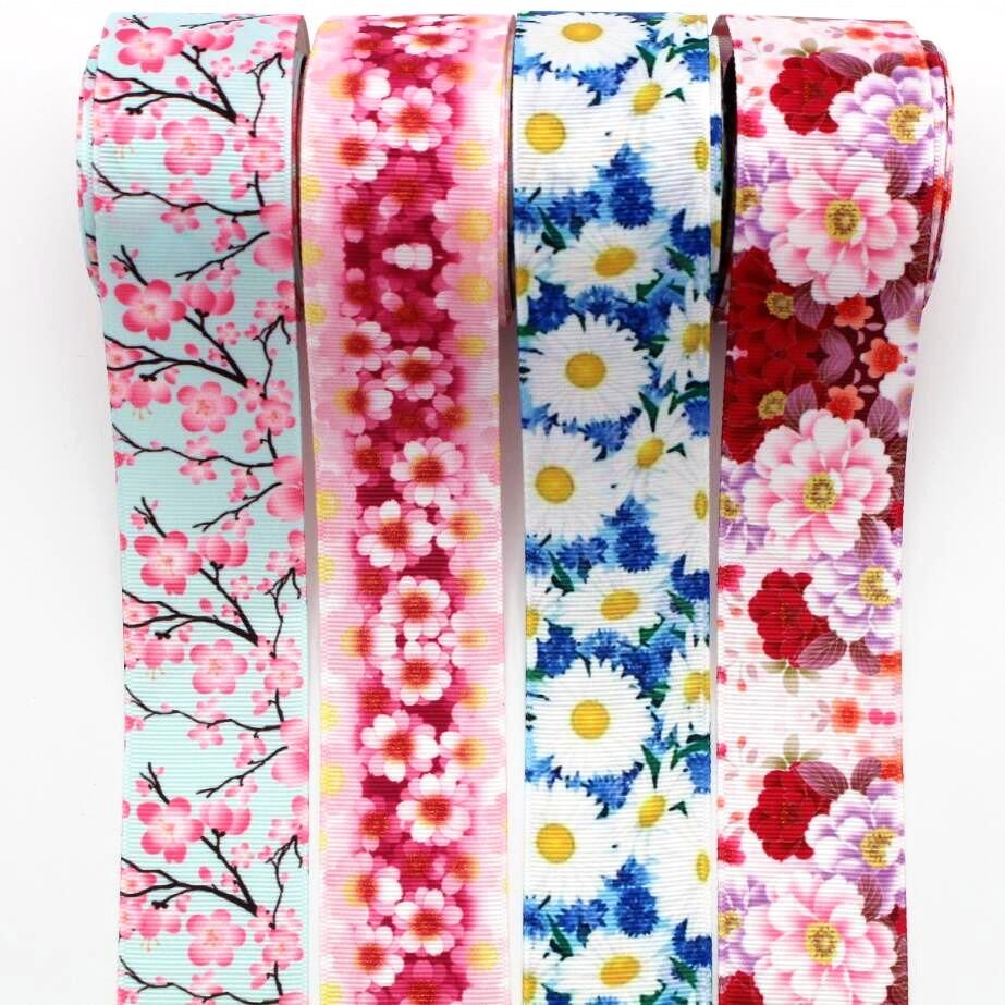 1-1/2 38 мм большой цветок ленты 10 ярдов материалы для ручных поделок Головные уборы лук технологии корсажные ленты