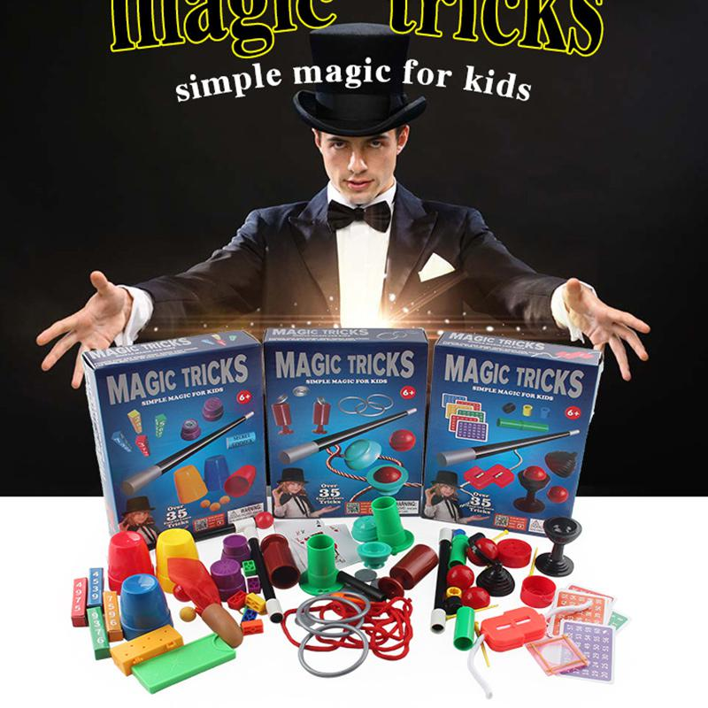 Magic Toys Beginner Magic Trick Set Kit Magie Props Puzzle Toy Children Magic Gift Toy For Kids Poker Cards For Christmas