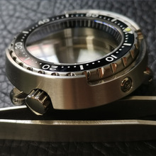Canned-Watch-Case Tuna Crystal Sapphire SBBN031/SKX007 Stainless-Steel Fit 200M Modify