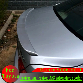 For Toyota Camry 2006-2011 spoiler ABS material high quality spoiler primer color or black or white or silver car rear spoiler